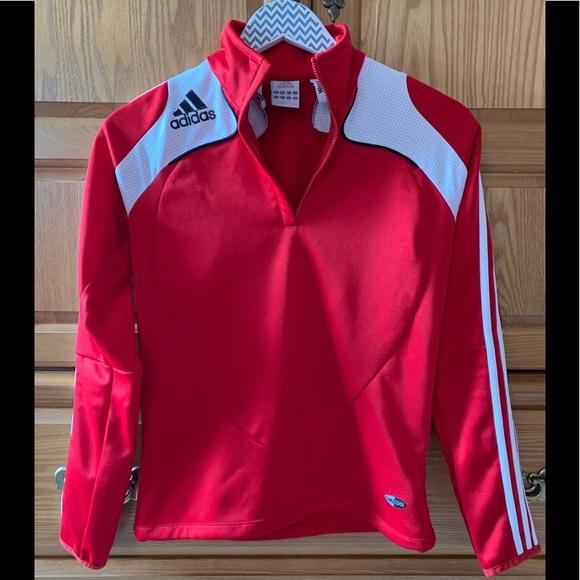 Red adidas jacket